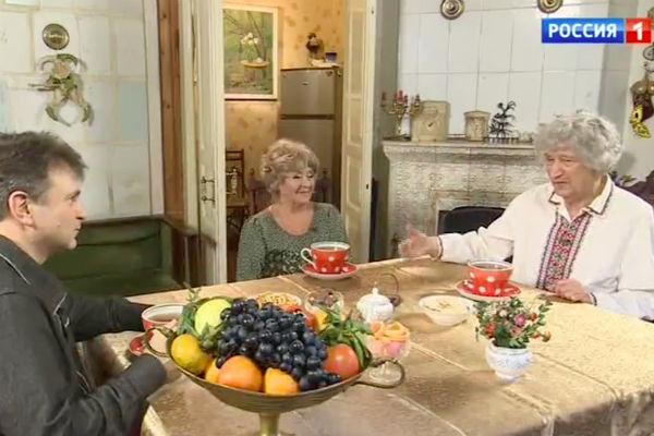 Юрий Энтин с женой Мариной и Тимуром Кизяковым