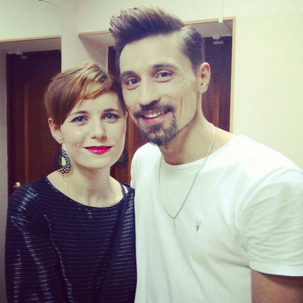 Алена Поль с наставником Димой Биланом