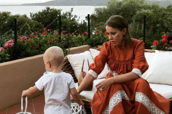 Ксения Собчак и ее сын Платон