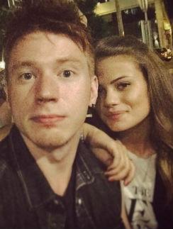 Никита Пресняков с возлюбленной Аленой Красновой