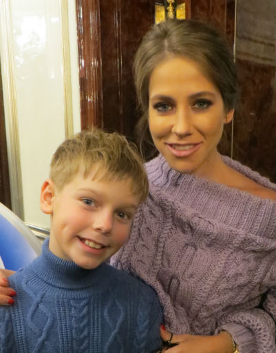 Юлия Барановская с сыном Артемом