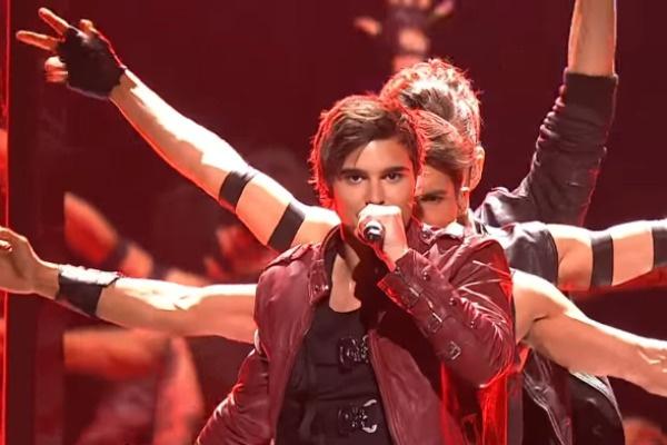 Эрик Сааде на «Евровидении» в 2011 году