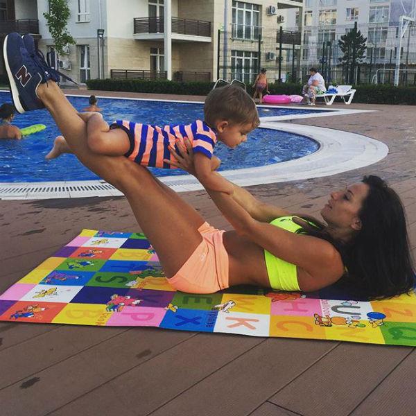 Актриса пришла в форму благодаря беби-фитнесу