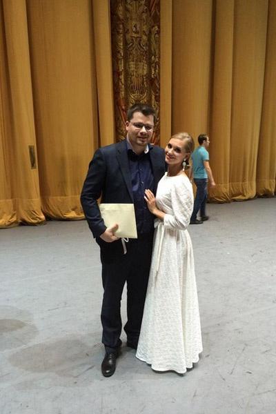 Гарик и Кристина на сцене Большого театра