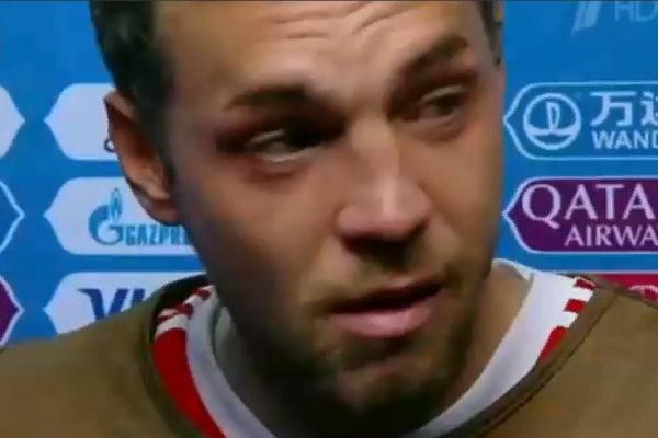 Дзюба не смог сдержать слез после поражения сборной Хорватии на ЧМ-2018