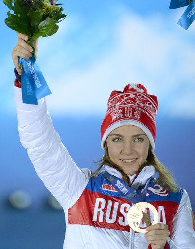 Третье место заняла Елена Никитина в дисциплине скелетон