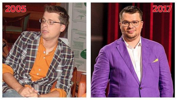 Гарик Харламов в 2005 и 2017-м