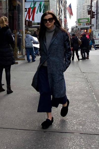 В таком виде певица гуляла по Нью-Йорку