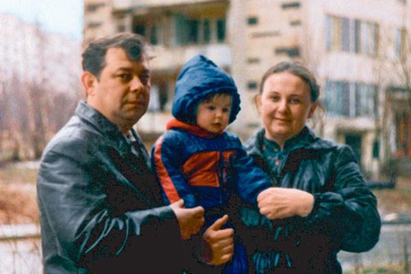 Екатерина Варнава с родителями
