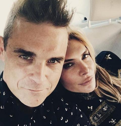 Робби Уильямс с женой Айдой