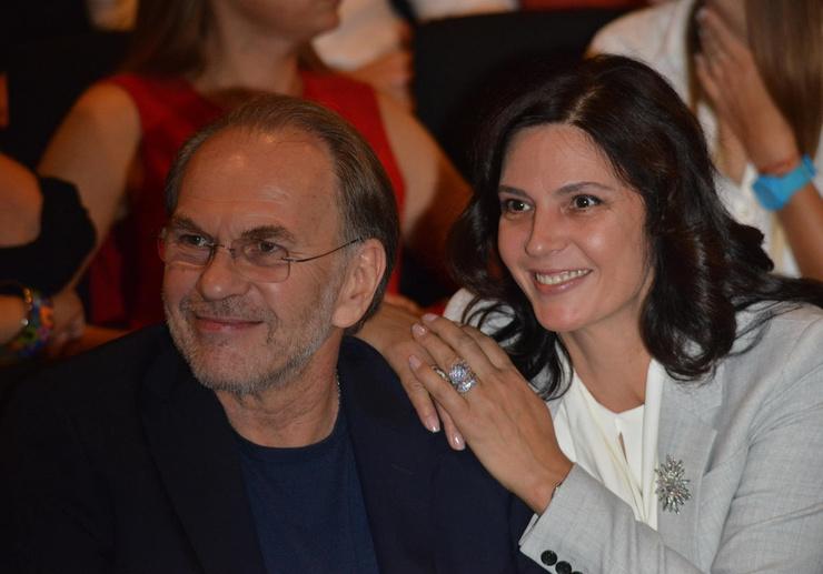 Вележева с мужем, актером Алексеем Гуськовым
