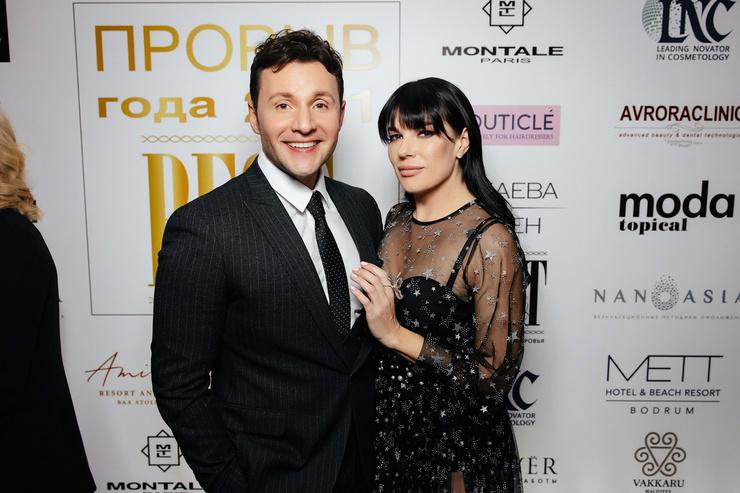 Ведущие премии - Вячеслав Манучаров и Екатерина Гусева.