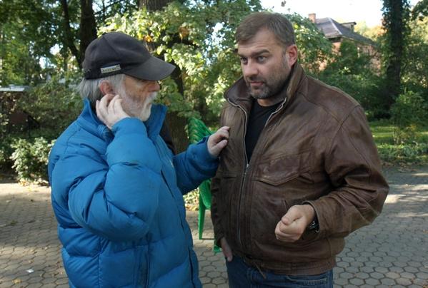 Михаил Пореченков и режиссер Дмитрий Светозаров