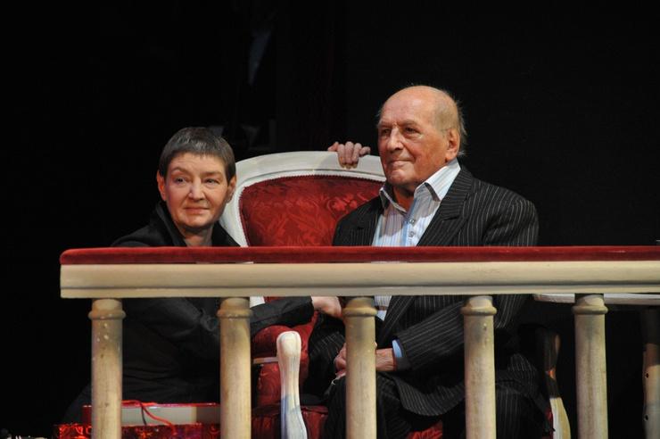 Актриса с отцом Львом Дуровым