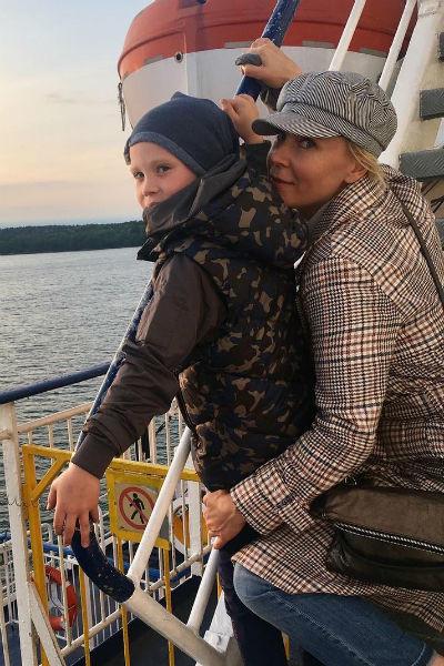 Актриса с сыном Иваном