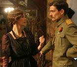 Елизавета Боярская и Максим Матвеев на съемках фильма «Контрибуция»