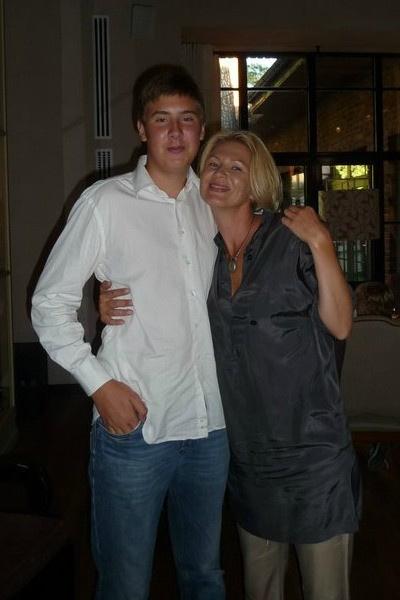 Егор Сосин с матерью