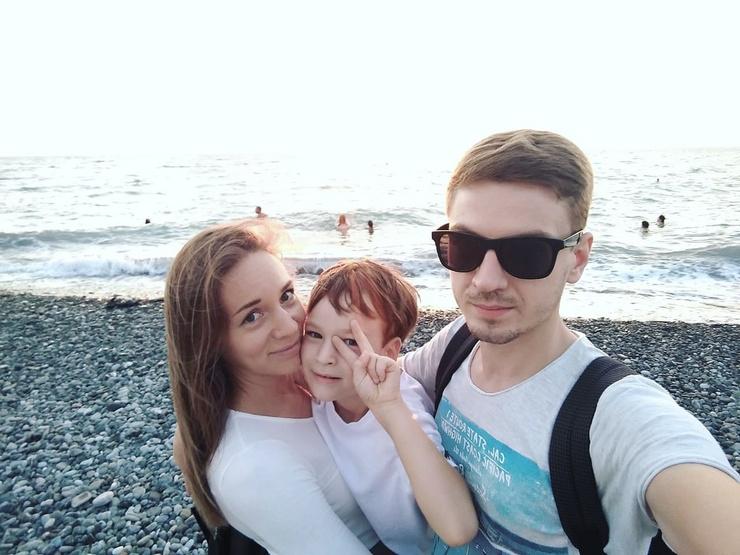 Анастасия Ильина с семьей