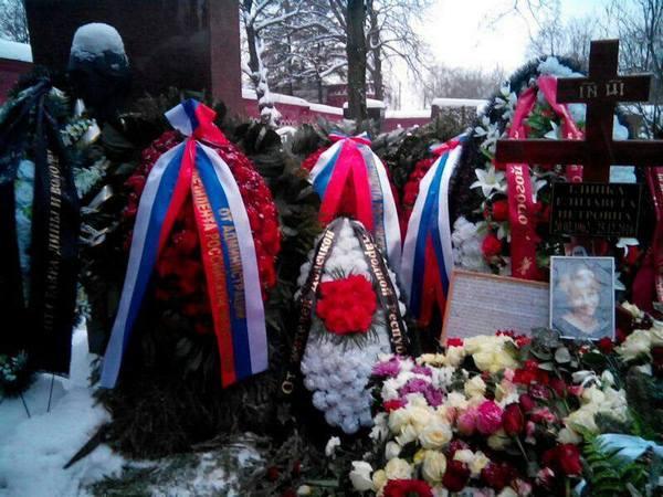 Могила Елизаветы Глинки на Новодевичьем кладбище