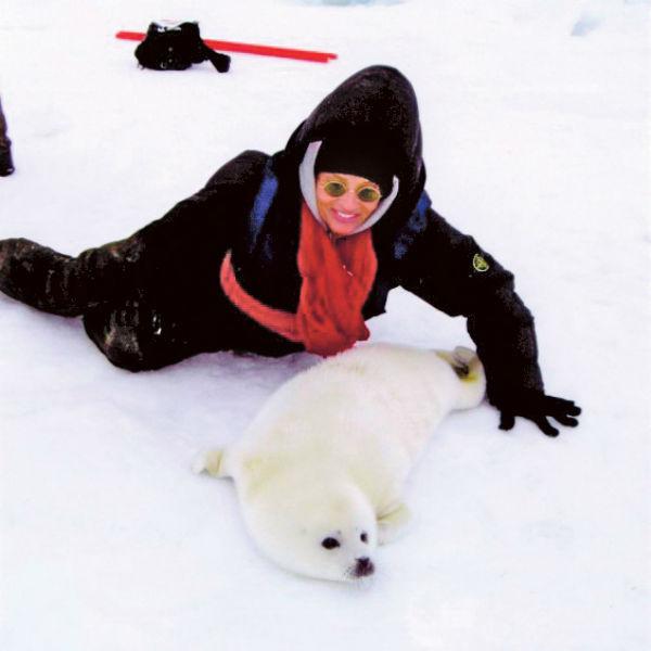 Артистка побывала даже на Северном полюсе, 2008 год