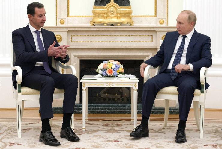 Накануне президент встретился с главой Сирии Башаром Асадом