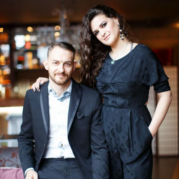 Виктория Райдос с мужем