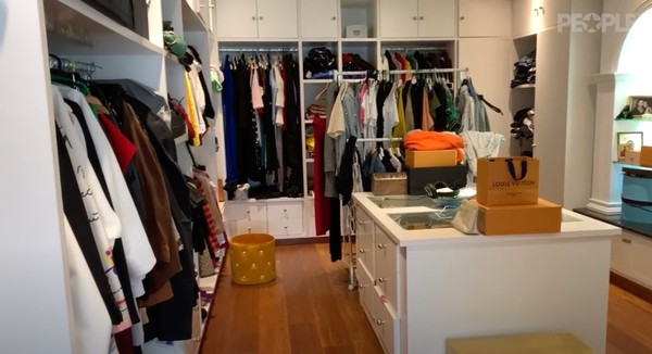 Просторная гардеробная