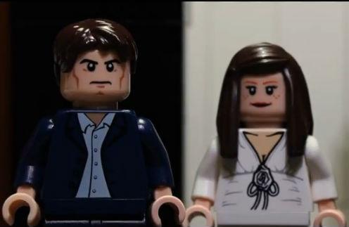 Кристиан Грей и Анастейша Стил из Lego