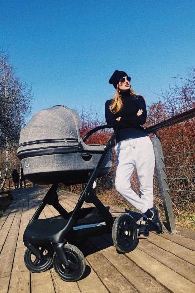 Саша Савельева быстро пришла в форму после родов