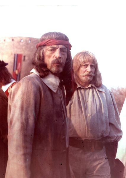 Михаил Боярский и Валентин Смирнитский на съемках третьего фильма о мушкетерах