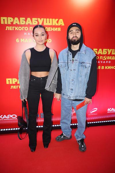 Рэпер Мот с женой Марией Мельниковой