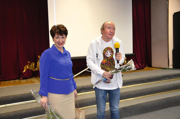 На творческой встрече в ДК города Юхнова