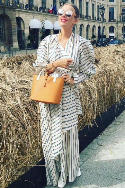 Ксения Собчак на Вандомской площади в Париже