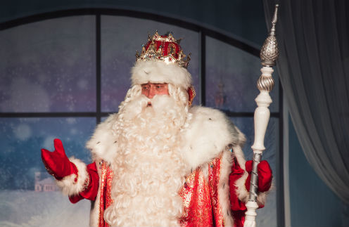 Дед Мороз всегда рад детям