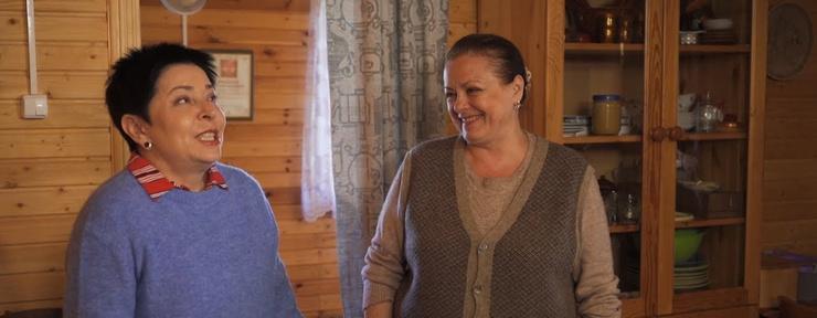 Наталья Барбье приехала в гости к Елене Цыплаковой