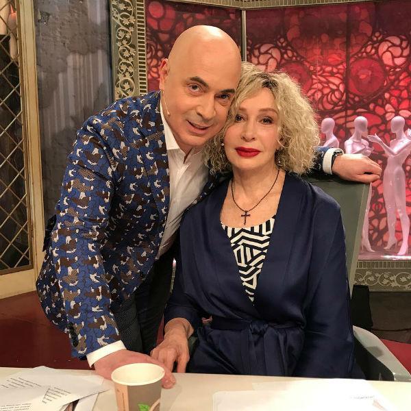 Михаил Грушевский и Татьяна Васильева в студии «Модного приговора»