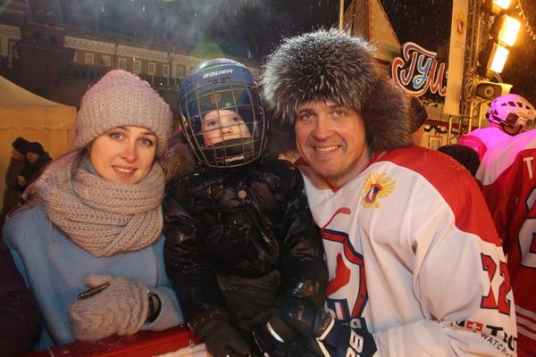 Ольга и Денис с сыном Федей