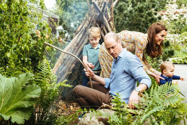 Уильям и Кейт любят отдыхать с детьми на природе