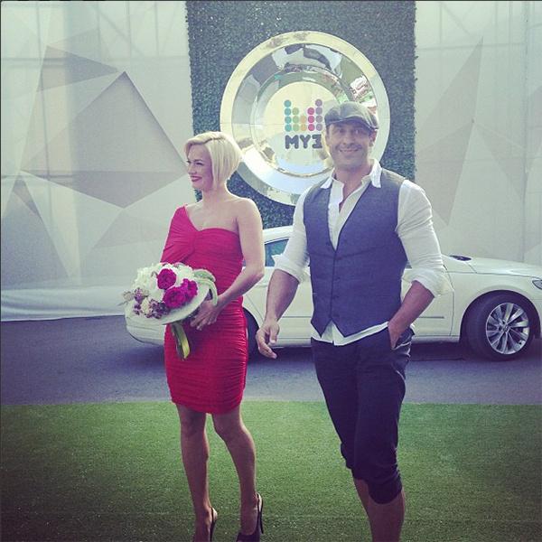 Стас Костюшко с женой