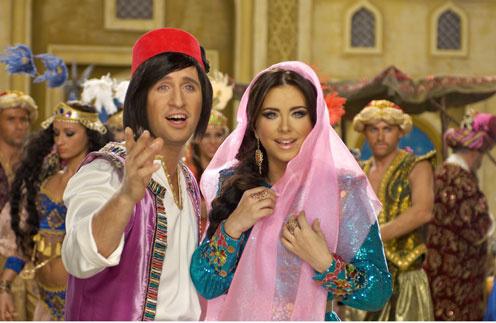 Русский Алёша (Оскар Кучера) обрел на Востоке не только имя Аладдин, но и царевну Будур (Ани Лорак)