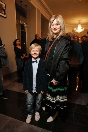 Анна Михалкова с сыном