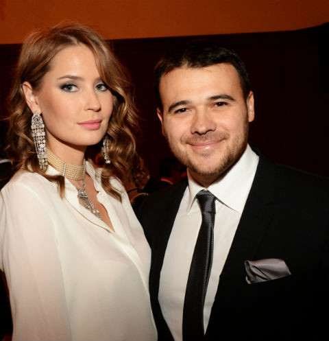 Эмин Агаларов с супругой Аленой