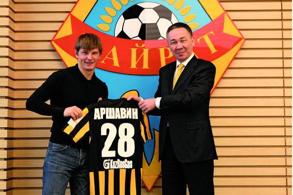 Андрей Аршавин три года играл за «Кайрат»
