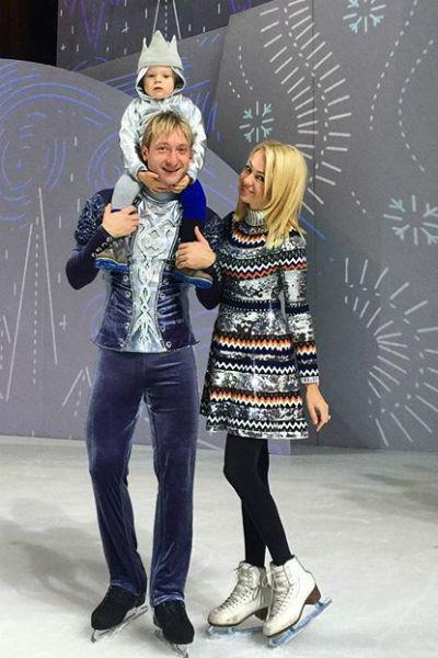 Яна Рудковская, Евгений Плющенко и маленький Саша