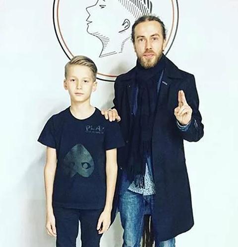 Децл с единственным сыном Тони