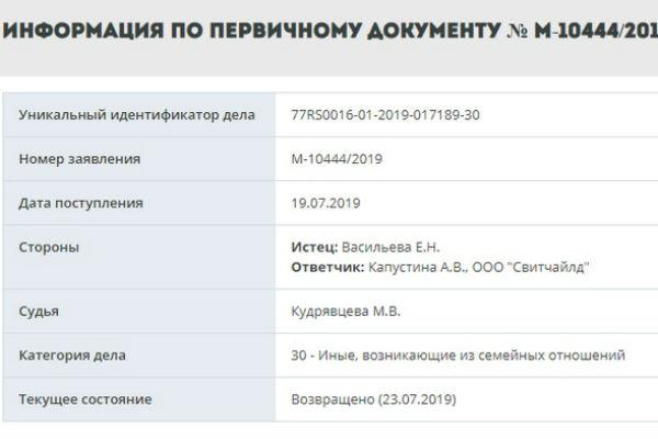 Васильева отстаивала свое право на материнство