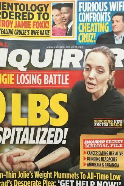 Обложка журнала с Анджелиной Джоли