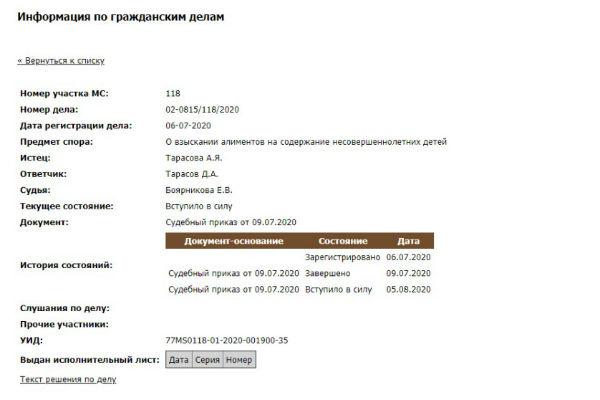 Анастасия Костенко отсудила алименты у Дмитрия Тарасова