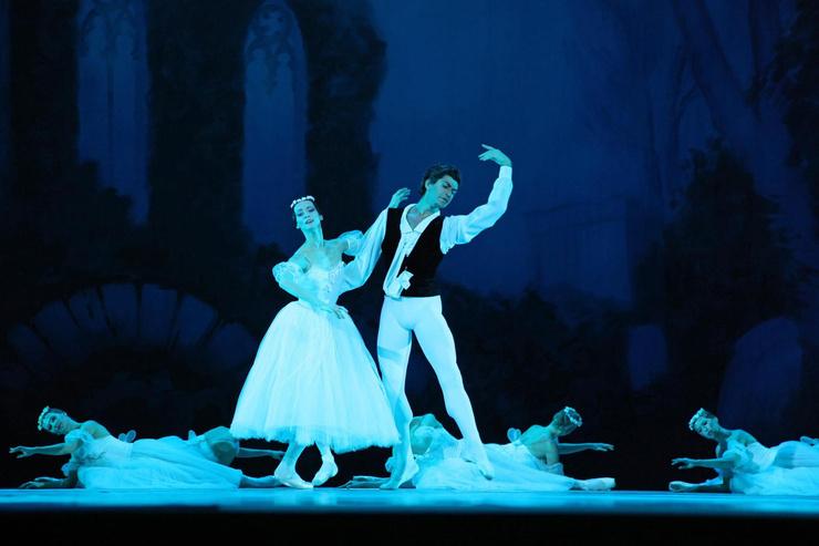 Цискаридзе в роли юноши в балете «Шопениана» в Кремлевском дворце