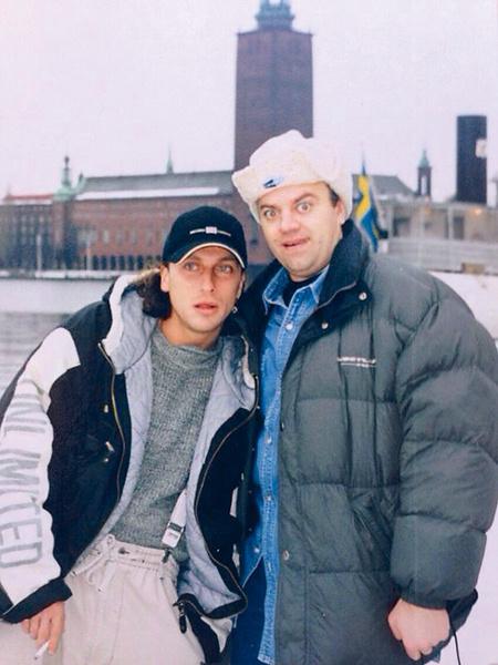 Нагиев и Климушкин в Стокгольме, начало 1990-х